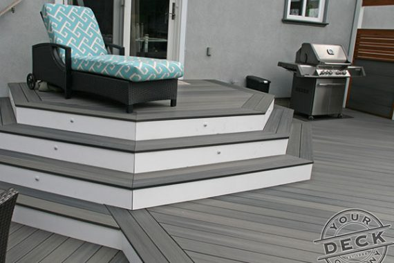 wrap around stairs transitioning between deck levels