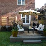 cedar planters on this Trex deck