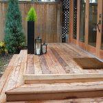 Cedar deck with wrap around steps
