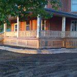 Marilyn Denis show wrap around cedar deck