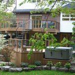 Multi-level Trex decking and railing