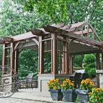 Custom cedar pergola and shade structure