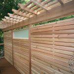 Cedar horizontal privacy screen