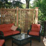 Trex deck accented with custom cedar lattice