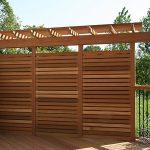 Kayu decking and privacy wall