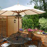Custom cedar planters and privacy wall