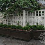 Custom screens and cedar planter box