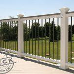 Deck lights and Trex Transcend railing