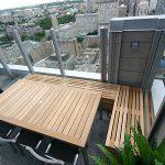 Cedar bench and table.