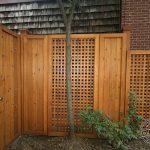 Cedar screen wall