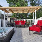 Cedar pergola Fiberon deck