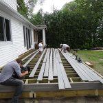 Deck flooring being installed