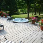 Complimentary curves on a custom Trex deck.
