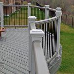 Trex Transcend curved railing.