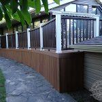 Custom curved Trex deck and railing