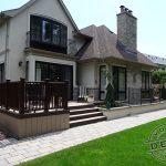 Trex deck and railing on custom home