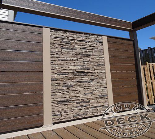 Trex and Stone privacy wall